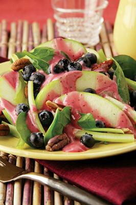 Blueberry Pear Waldorf Salad