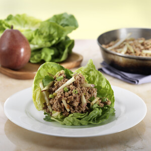 Chicken and Crunchy Pear Lettuce Wrap