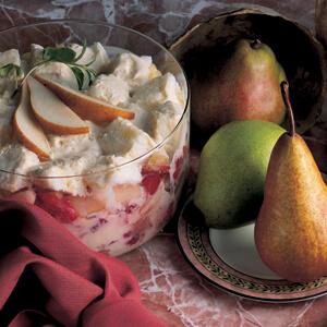 Pear Strawberry Trifle
