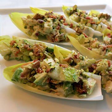 Chicken Salad with Pears Bacon and Avocado