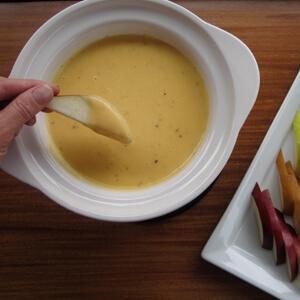 Double Gouda Fondue with Pears