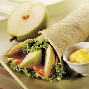 Pear and Ham Wrap with Curried Mayonnaise