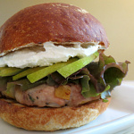 turkey-burger-carmelized-pears
