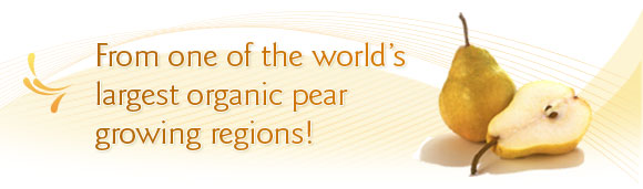 From one of the world's largest organic pear growing regions!