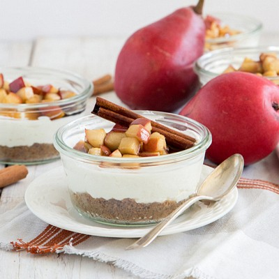 no-bake-pear-cheesecake